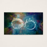 """Awesome mystic """"Live Laugh Love"""" infinity symbol Business Card"""