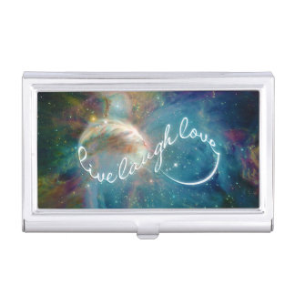 "Awesome mystic ""Live Laugh Love"" infinity symbol Business Card Case"