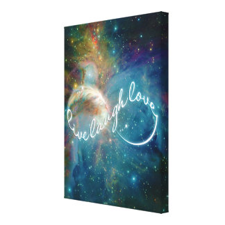 "Awesome mystic ""Live Laugh Love"" infinity symbol Canvas Print"
