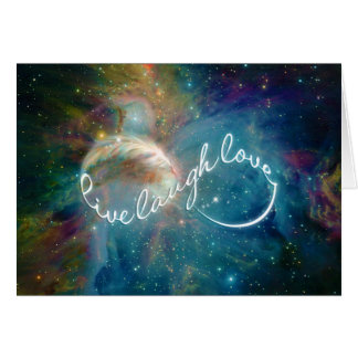 """Awesome mystic """"Live Laugh Love"""" infinity symbol Greeting Card"""
