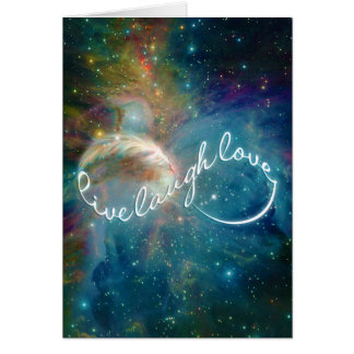 "Awesome mystic ""Live Laugh Love"" infinity symbol Card"