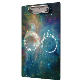"Awesome mystic ""Live Laugh Love"" infinity symbol Clipboard"