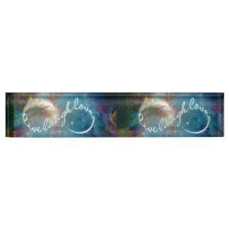 "Awesome mystic ""Live Laugh Love"" infinity symbol Desk Name Plates"