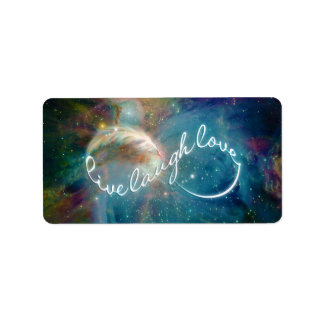 "Awesome mystic ""Live Laugh Love"" infinity symbol Label"