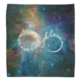 "Awesome mystic ""Live Laugh Love"" infinity symbol Bandana"