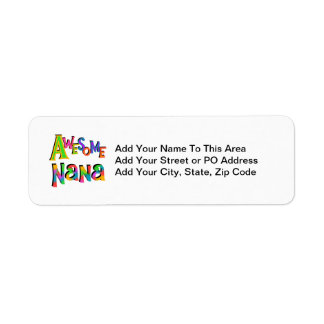 Awesome Nana T-shirts and Gifts Label