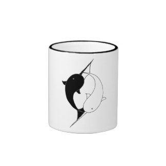 Awesome Narwhals Ringer Coffee Mug