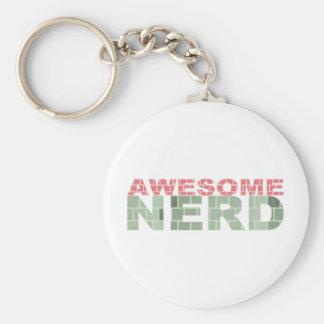 Awesome Nerd Basic Round Button Keychain