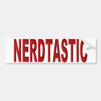 Awesome Nerdtastic Hat Bumper Sticker