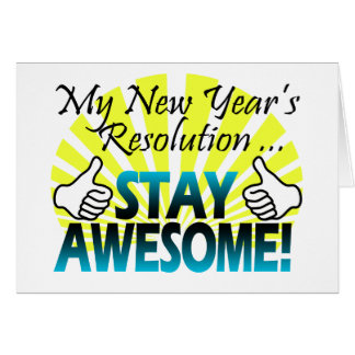Awesome New Year Resolution Card