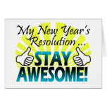 Awesome New Year Resolution Cards