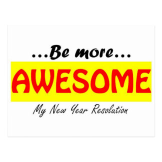 Awesome New Year resolution Postcard