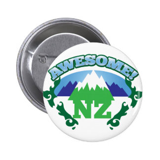 Awesome NEW ZEALAND! with mountains Button