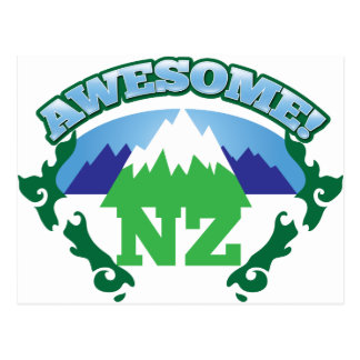 Awesome NEW ZEALAND! with mountains Postcard