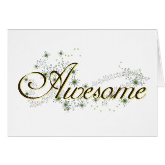 'awesome' Note Cards