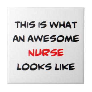 awesome nurse ceramic tile