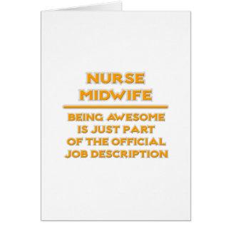 Awesome Nurse Midwife .. Job Description Card