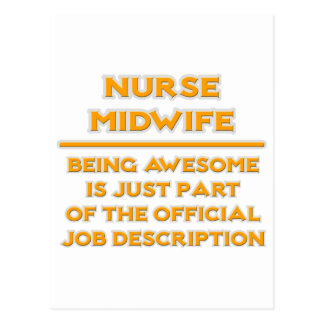 Awesome Nurse Midwife .. Job Description Postcard