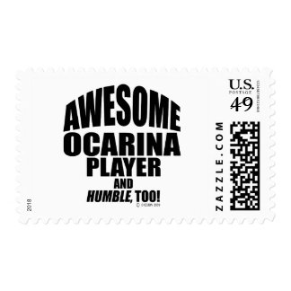 Awesome Ocarina Player Stamp