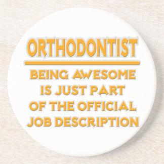 Awesome Orthodontist .. Job Description Drink Coaster