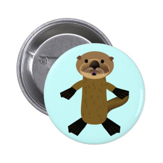 Awesome Otters Pinback Button