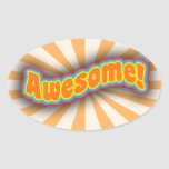Awesome! Oval Sticker