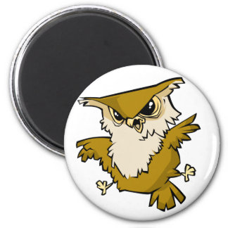 Awesome Owl 2 Inch Round Magnet