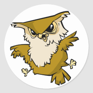 Awesome Owl Classic Round Sticker