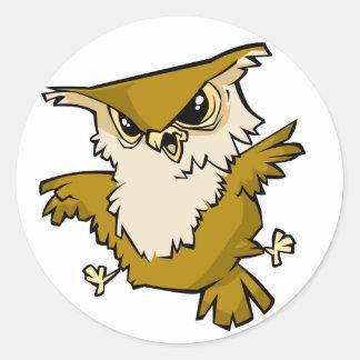 Awesome Owl Classic Round Sticker