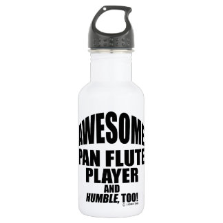 Awesome Pan Flute Player 18oz Water Bottle