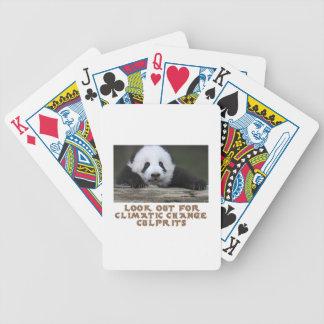 awesome Panda bear designs Bicycle Playing Cards