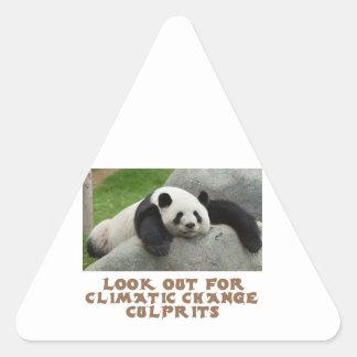 awesome Panda designs Triangle Sticker