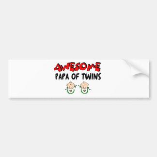AWESOME PAPA of TWINS Bumper Sticker