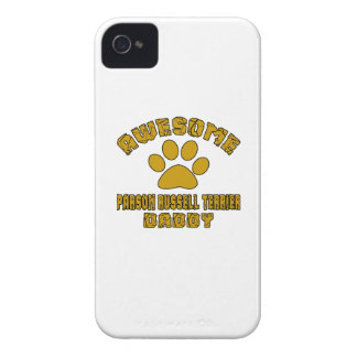 AWESOME PARSON RUSSELL TERRIER DADDY iPhone 4 CASE