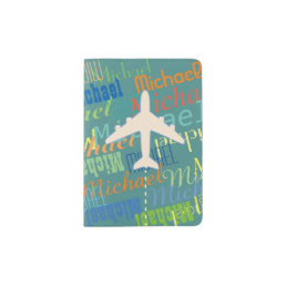 awesome passport for a boy with name & airplane passport holder