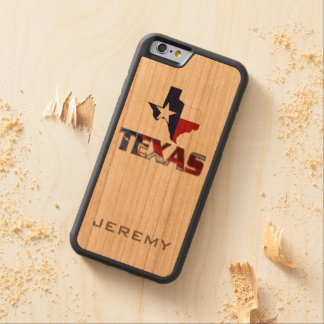Awesome Patriotic Texas Monogram Carved® Cherry iPhone 6 Bumper