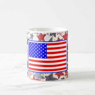 Awesome Patriotic USA Country Flag Vintage Stars Classic White Coffee Mug