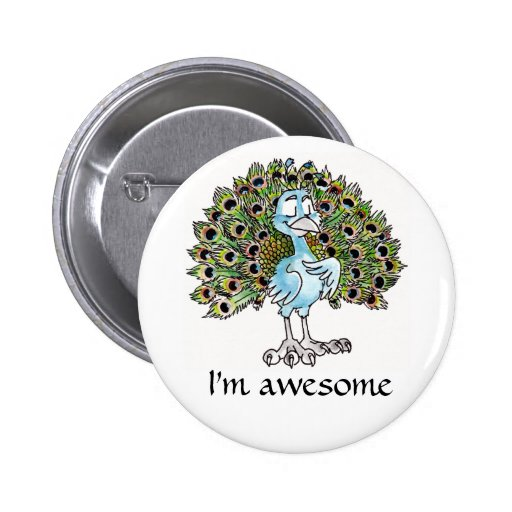 Awesome Peacock Button