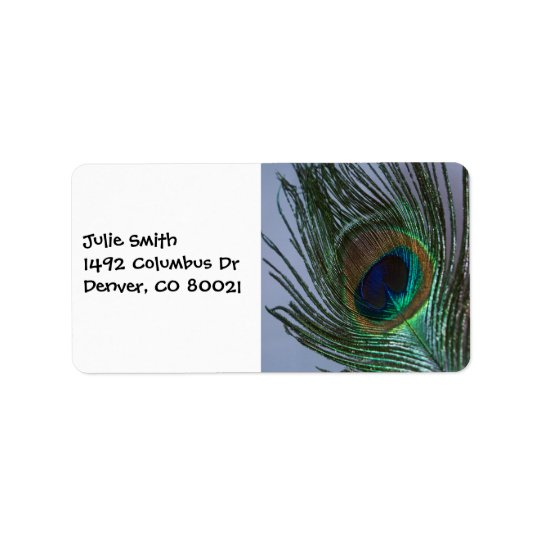 Awesome Peacock Feather Label