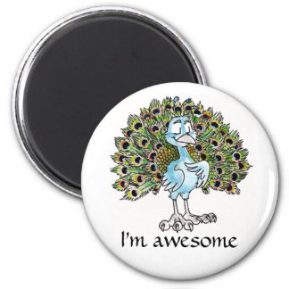 Awesome Peacock Magnet