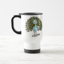 Awesome Peacock Travel Mug