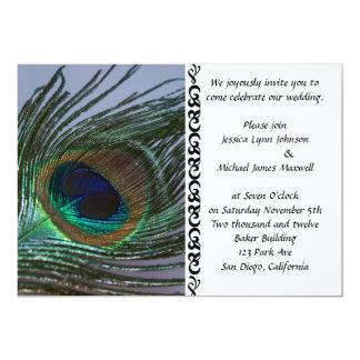Awesome Peacock Wedding Card