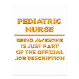 Awesome Pediatric Nurse ..  Job Description Postcard