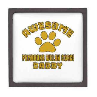 AWESOME PEMBROKE WELSH CORGI DADDY GIFT BOX