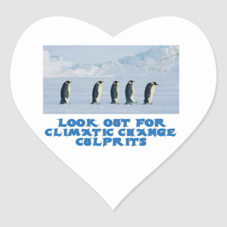 awesome Penguin designs Heart Sticker