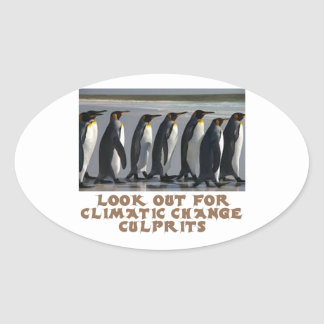 awesome Penguin designs Oval Sticker
