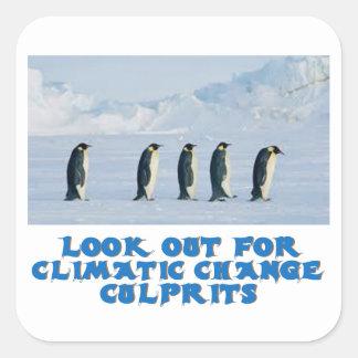 awesome Penguin designs Square Sticker