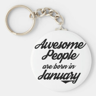 Awesome People are born in January Keychain