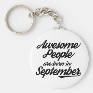 Awesome People are born in September Keychain
