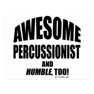 Awesome Percussionist Post Cards